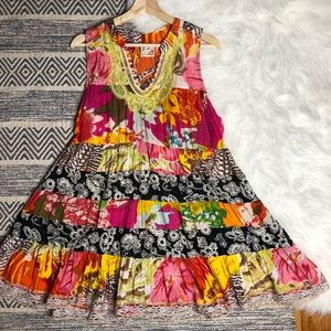 Free People colorful tropical sleeveless tunic